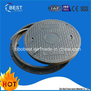 B125 Round Composite Resin Manhole Cover Used in Green Belt pictures & photos