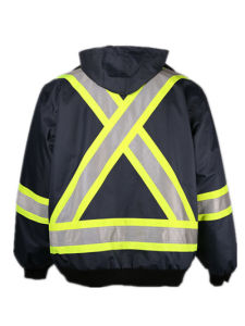 Wholesale Heavy Duty Mens Work Safety 3 in 1 Winter Parka Jacket with 4′′ Reflective Tape pictures & photos