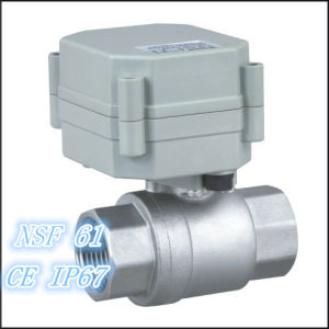 2 Way 3/4 ′′ Motorized Stainless Steel Ball Valve (T20-S2-A) pictures & photos