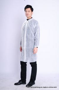 High Quality Polypropylene Disposable Non Woven Lab Coat pictures & photos