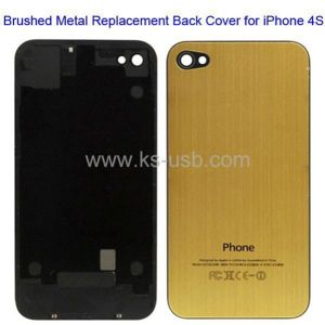 Brushed Metal Series Replacement Back Cover for iPhone 4S, with Logo (KIP4S-1000)