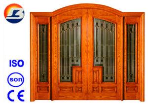Classical Design Meranti Foliding Wooden Door pictures & photos
