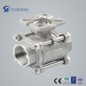 Stainless Steel 3PC Ball Valve Without Handle with ISO5211 Pad pictures & photos
