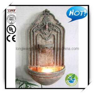 22-Inch Vintage Fiberglass Leaf Wall Fountain with Light