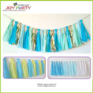 Tissue Paper Tassel for Birthday Decoration pictures & photos