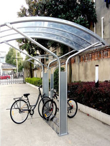 Outdoor Modern Bike Shelters for 5 Rack (OEM factory) pictures & photos