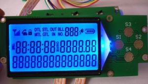 Htn Blue LCD with Blue Backlight pictures & photos
