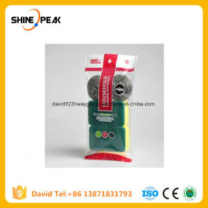 Eco-Friendly Stainless Steel Scourer Iron Sponge Scrubber pictures & photos