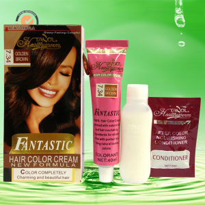 Fantastic Hair Color Golden Brown 30ml*2+5ml pictures & photos