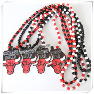 Hip Hop Wood Fashion Pendant with 36 Inches Wood Beaded Chain (IO-wn010) pictures & photos