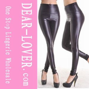 Fashion Black Faux Leather Leggings (LC7748-2) pictures & photos