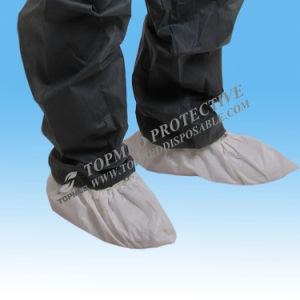 White/Blue Nonwoven Shoe Cover, Half Elastic or Full Elastic pictures & photos