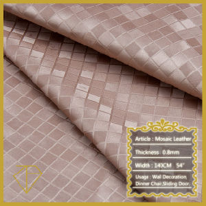 Upholstery Leather for TV Backing Wall Decoration (Semi-PU)