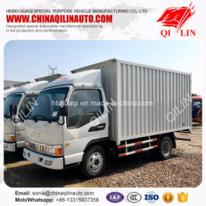 4X2 Drive Wheel Container Truck with 4 Meters Box Body pictures & photos