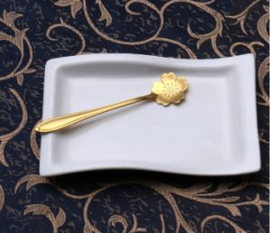Gold Plating Stainless Steel Flower Coffee Mixing Spoon pictures & photos