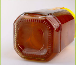 Wide Mouth Round 500ml 1000ml Transparent Glasss Bee Honey Bottles pictures & photos