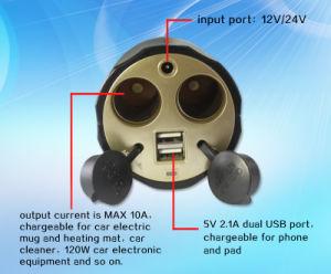 China Cheap Car Cigarette Lighter Socket Splitter for Laptop PC pictures & photos
