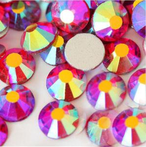 Lt. Siam Ab Nail Rhinestone Non Hotfix Rhinestone Flat Back Beads Crystal Stone Flat Back Glass (FB-ss16 siam ab) pictures & photos