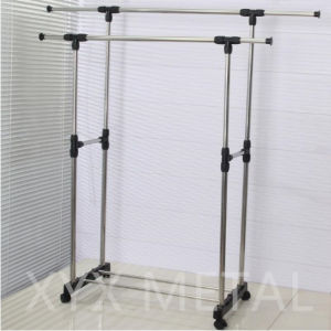 Stainless Steel Double Rails Roll Retractable Clothes Drying Rack pictures & photos