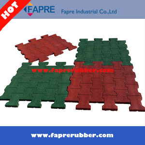 Colorful Dog Bone Interlocking Rubber Tile/ Interlocking Rubber Blocks Paver. pictures & photos
