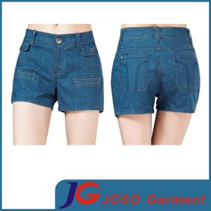 Women′s Stretch Blue Denim Shorts (JC6065) pictures & photos