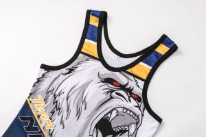 Healong Fashion Design Sportswear Full Sublimation Wrestling Jersey pictures & photos