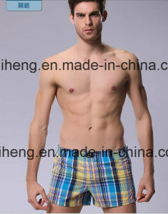 100% Polyester Yarn Dyed Men′s Beach Short Fabric pictures & photos