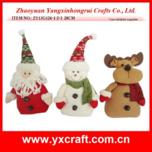 Christmas Decoration (ZY13G126-1-2-3 28CM) Christmas Santa Ceramic Products pictures & photos
