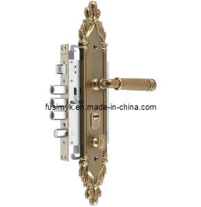 Latest Design Antique Brass Plating Door Handle (FA-6122XX) pictures & photos
