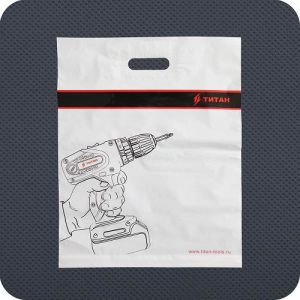 Plastic Patch Handle Shopping Bag pictures & photos