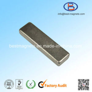 Block Permanent NdFeB Magnet with Countersink Hole for Motors pictures & photos