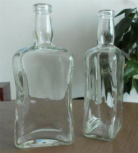 Custom Made Glass Bottle with Cork Cap pictures & photos
