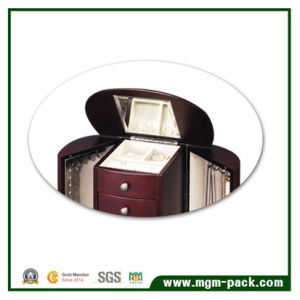 High Quality Wooden with Mirror Storage Jewelry Box pictures & photos