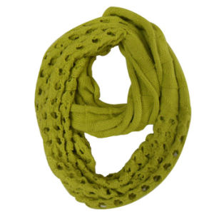 Lady Fashion Acrylic Knitted Infinity Scarf (YKY4169) pictures & photos