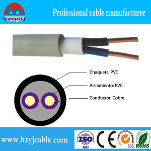 Flat Cable BVV Solid Conductor PVC Insulation PVC Cable pictures & photos