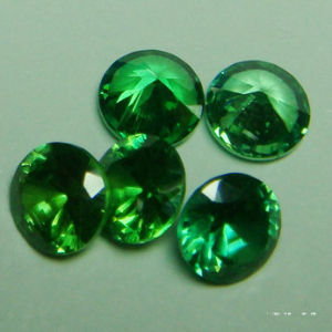 Green Color Cubic Zirconia Gemstone for Jewelry pictures & photos