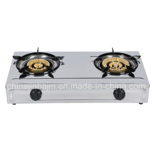 2 Burner 120-145 Stainless Steel Gas Stove pictures & photos