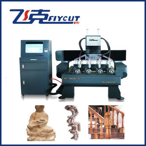 CNC Flat-Rotary Multi-Heads Engraver, 3D Router pictures & photos