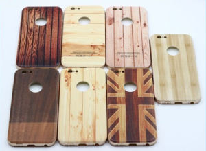 New Aluminum Bumper Wood Pattern Cell Phone Case for iPhone pictures & photos