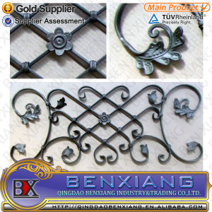 Flower Fence Panels Steel Rosettes pictures & photos