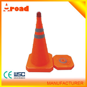 Retractable Traffic Cone Collapsible Traffic Cone Plastic Traffic Cone pictures & photos
