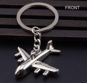 Metal Airplane Key Chain; Can Be Printed Logo pictures & photos