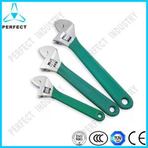 Metric Chrome Vanadium Steel Satin Chrome Plated Adjustable Wrench pictures & photos