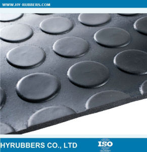 Anti Slip Round Button Type Rubber Mat Black Cheap Price pictures & photos