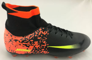 New Athletic Sport Football Shoe with Flyknit Sock High Quality pictures & photos