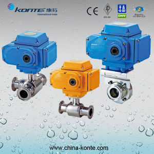 Stainless Steel Electric Sanitary Valve (KT-Q981F-10P) pictures & photos