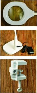 LED Magnifying Glass with Table Base and Clamp pictures & photos