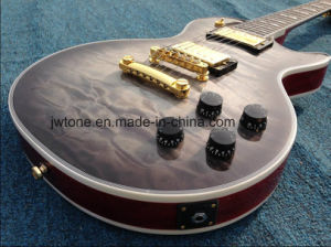 Quilted Maple Top Flamed Maple Back Custom Les Lp Quality Electric Guitar pictures & photos