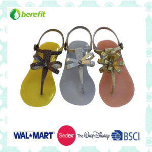 Lady′s Sandals, Fashion Design with Bead Decoration, PVC Shoes pictures & photos