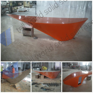 Solid Surface Stone Reception Counter Modern Shop Cash  China Fancy Custom Design Boat Style Bar Counter for Sale ...